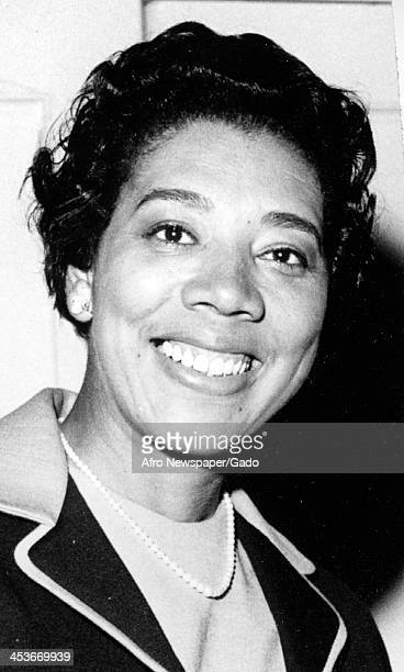 Portrait of tennis player Althea Gibson 1963
