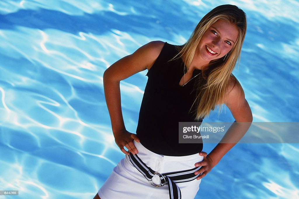 Portrait of Tennis Player Maria Sharapova of Russia taken during a feature in Indian Wells, California, USA.