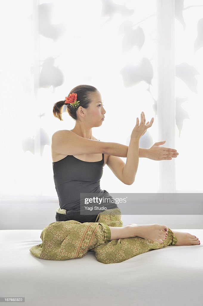 Portrait of Thai massage teacher : Stock Photo
