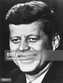 Portrait of the 35th US President John F Kennedy