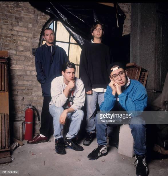 Portrait of the American alternative rock band Live guitarist Ed Kowalczyk bassist Patrick Dahlheimer drummer Chad Gracey and lead guitarist Chad...
