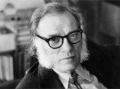 Portrait of the american biochemist and writer Isaac Asimov USA 1970s