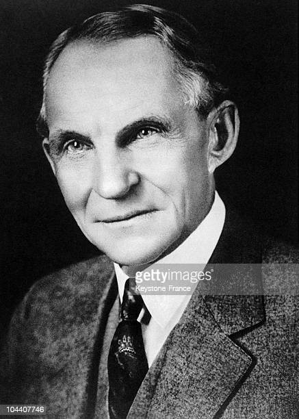 A portrait of the American industrialist Henry FORD around 1936