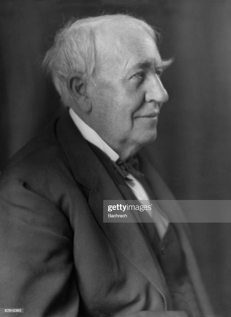 A portrait of the American inventor Thomas Alva Edison (1847 - 1931), East Orange, New Jersey, 1924.