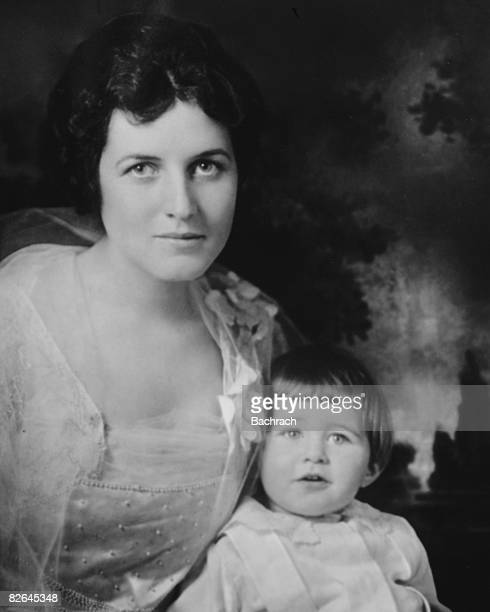 A portrait of the American matriarch Rose Fitzgerald Kennedy with her eldest son Joseph Kennedy Jr Boston Massachussetts 1918 Rose and her husband...