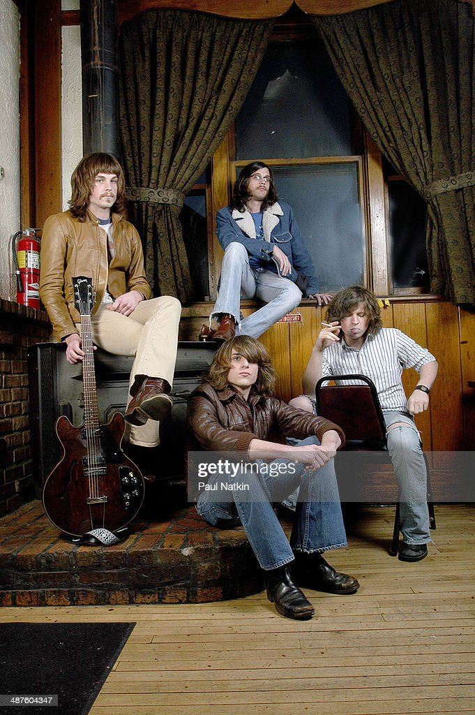 Portrait of the American music group Kings of Leon Chicago Illinois March 30 2003 Pictured are brothers Caleb Followill Jared Followill and Nathan...