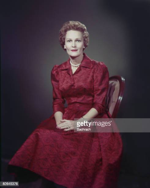 A portrait of the American Second Lady Thelma Catherine Ryan 'Pat' Nixon United States mid20th century Pat Nixon wife of Richard Nixon later served...