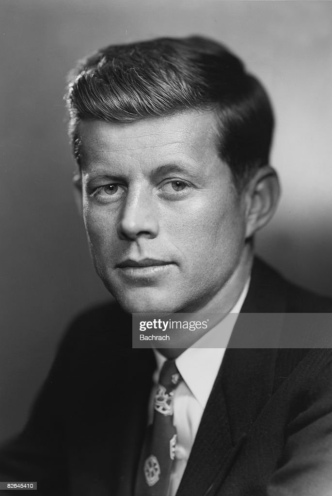 A portrait of the American Senator <a gi-track='captionPersonalityLinkClicked' href=/galleries/search?phrase=John+F.+Kennedy+-+US+President&family=editorial&specificpeople=70027 ng-click='$event.stopPropagation()'>John F. Kennedy</a> (1917 - 1963), Boston, Massachussetts, 1953. From 1961 through his death in 1963, Kennedy served as the thirty-fifth President of the United States.