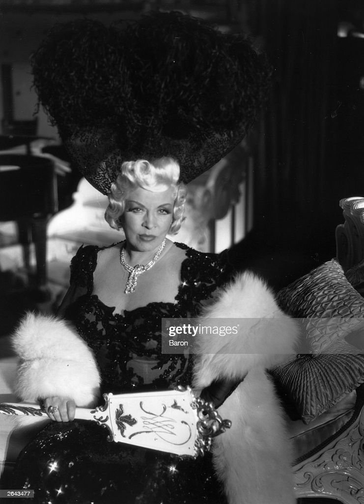 A portrait of the American vaudeville and film actress Mae West
