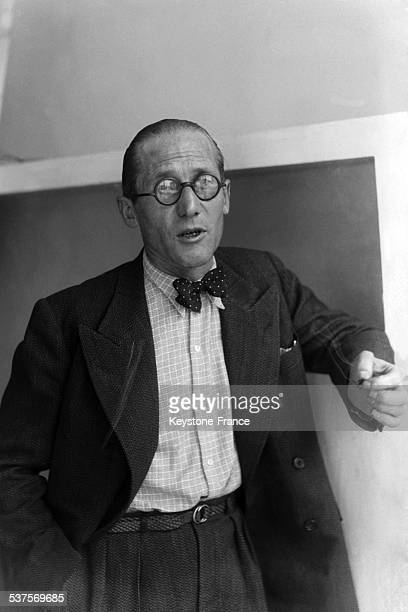 Portrait of the architect and planner Le Corbusier in Paris in France in 1933