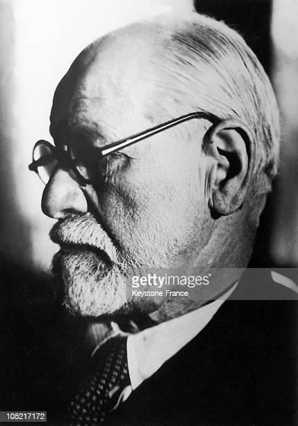 Portrait Of The Austrian Psychoanalyst Sigmund Freud In 1935