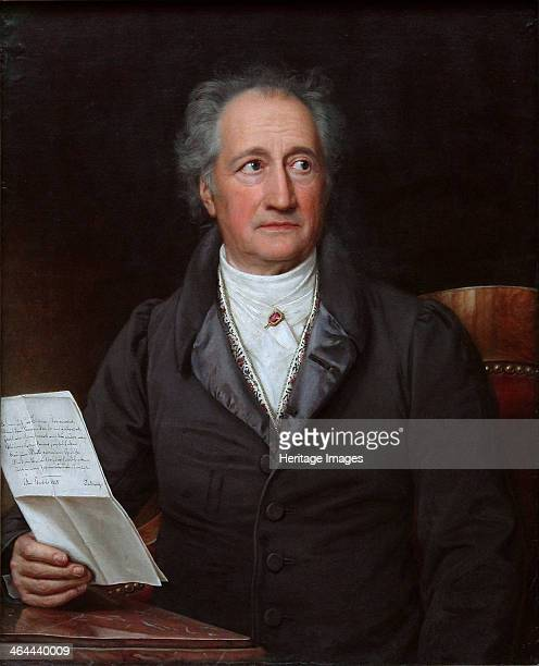 Portrait of the author Johann Wolfgang von Goethe 1828 Found in the collection of the Neue Pinakothek Munich