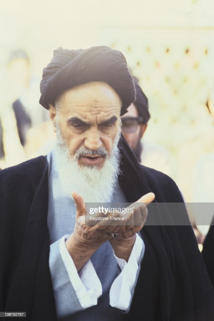 A Portrait Of The Ayatollah Ruhollah Musavi Khomeini, France