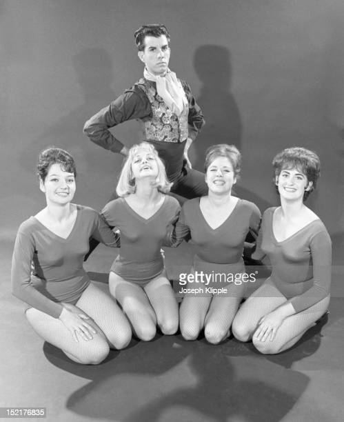 Portrait of the ballet ensemble at Wally Saunders Dance Studio among them American dancer and future actress Goldie Hawn Baltimore Maryland November...