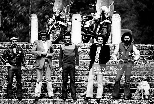 Portrait of the band Dik Dik The Italian band is composed by the drummer Sergio Panno the guitarist Pepe the guitarist Pietruccio the keybords player...