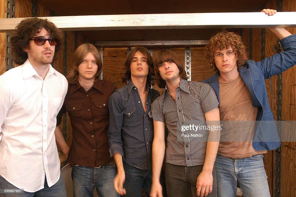 Portrait of the band Rooney, Milwaukee, Wisconsin, July 11, 2003.