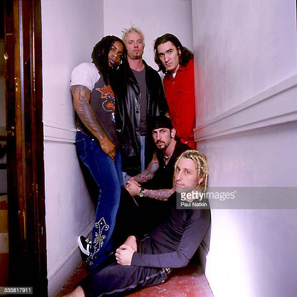 Portrait of the band Sevendust Chicago Illinois December 7 2001