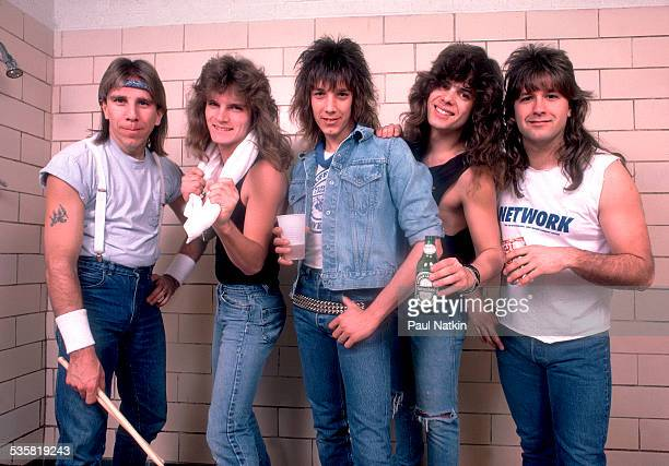 Portrait of the band Tesla at the Milwaukee Arena Milwaukee Wisconsin February 9 1987