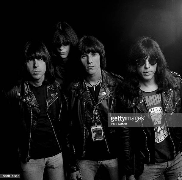 Portrait of the band the Ramones at the Marcus Ampitheater Milwaukee Wisconsin July 2 1990