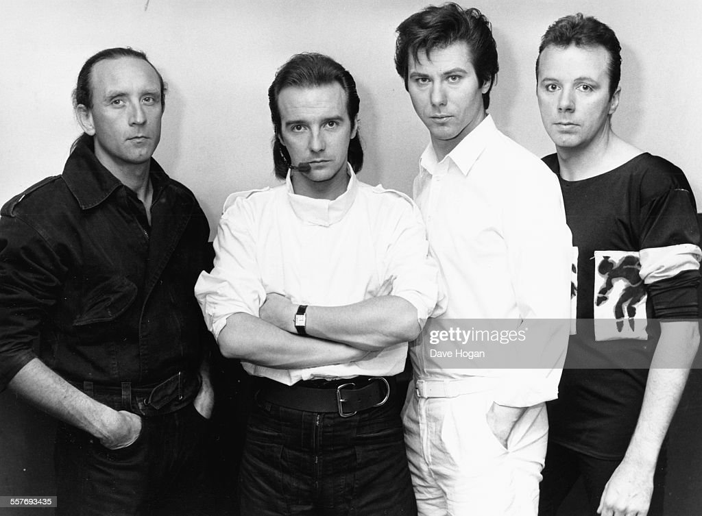 Portrait of the band 'Ultravox' with lead singer Midge Ure June 4th 1984