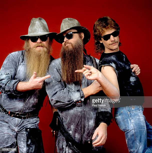 Portrait of the band ZZ Top at the Metro Center Rockford Illinois February 8 1984