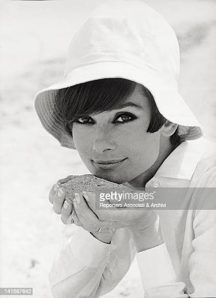Portrait of the British actress Audrey Hepburn August 1966