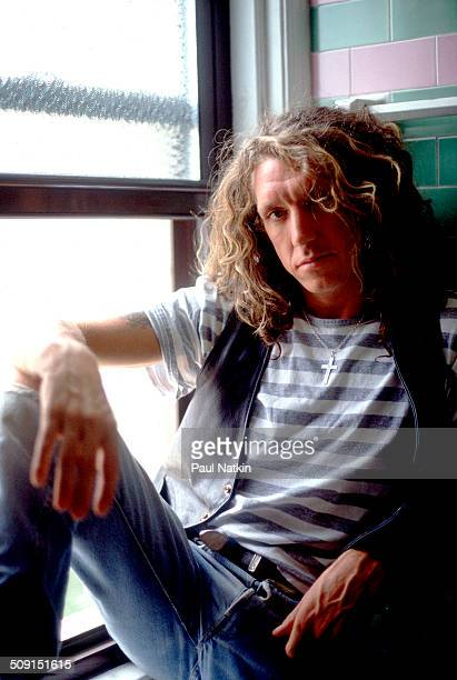 Portrait of the British musician Steve Jones as he poses beside a window Chicago Illinois June 19 1987 Jones was the guitar player for and a founding...