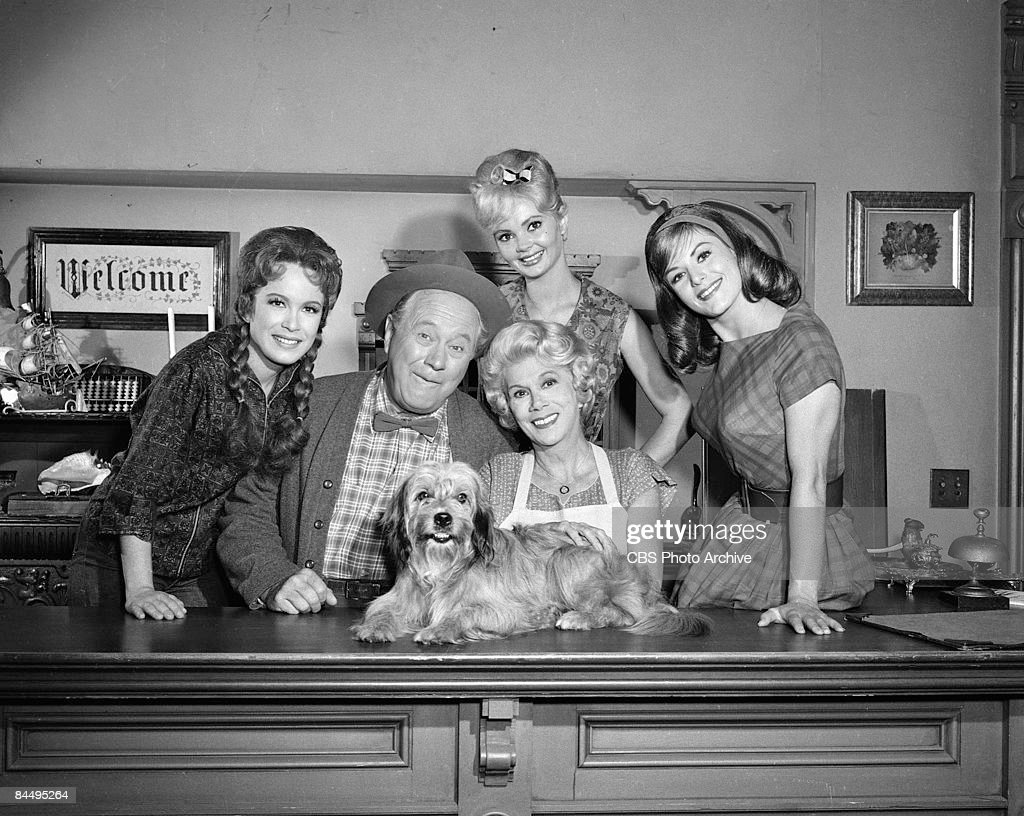 cast of petticoat junction pictures getty images portrait of the cast of petticoat junction as they pose on set during the