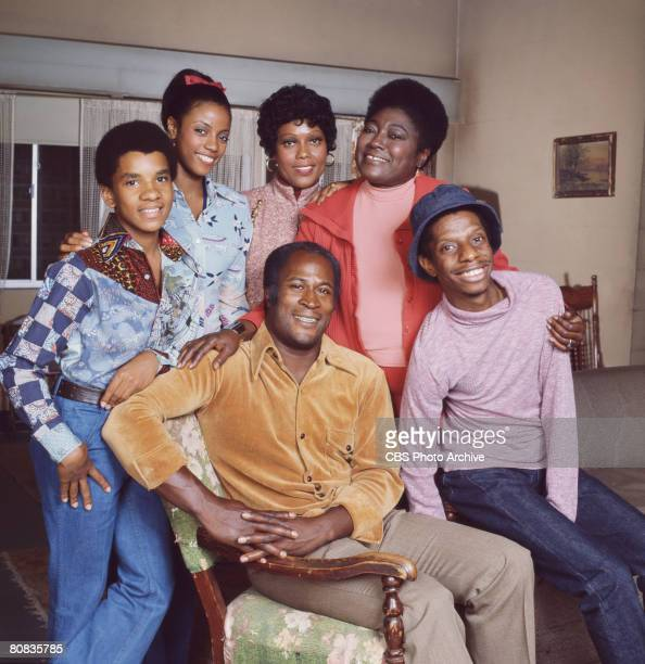 Portrait of the cast of the television show 'Good Times' Los Angeles California September 29 1977 Pictured are front row American actors John Amos...