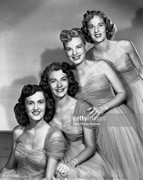 Portrait of The Chordettes a traditional barbershop harmony quartet They were regular performers on the CBS television program Arthur Godfrey and His...
