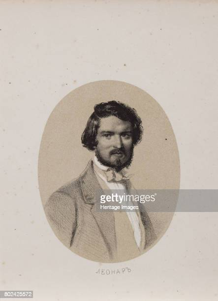 Portrait of the composer Hubert LÈonard 1853 Found in the collection of I Turgenev Memorial Museum Moscow