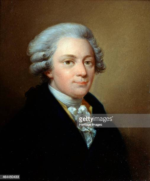 'Portrait of the composer Wolfgang Amadeus Mozart' c1783 Grassi Józef Found in the collection of the State Central M Glinka Museum of Music Moscow