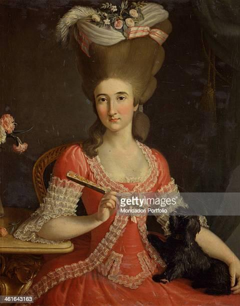 Portrait of the Cpuntess Margherita Pallavicino Attendolo Bolognini by Antonio Perego 18th Century oil on canvas Italy Lombardy Milan Castello...