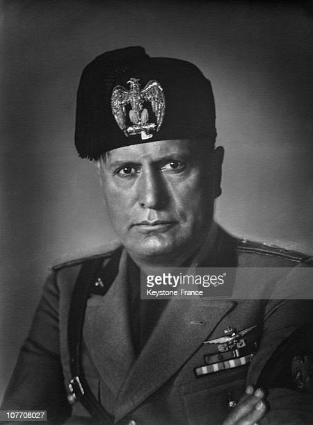 Portrait Of The Duce Benito Mussolini Between 1937 And 1940 Portrait Of The Duce Benito Mussolini Between 1937 And 1940