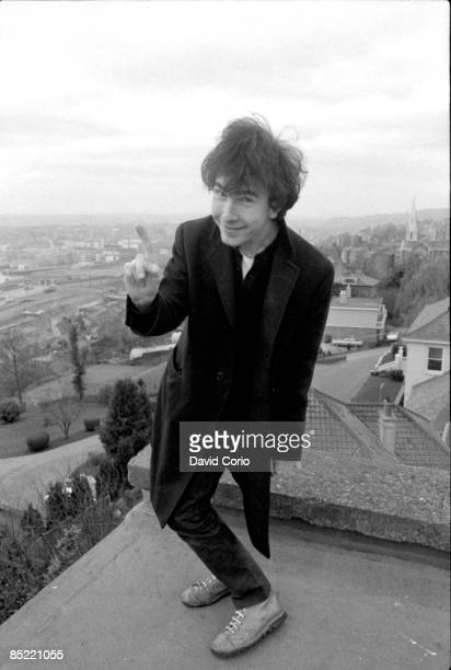 Portrait of The Edge of U2 on the roof of the Cork Country Club Hotel Cork Ireland March 2 1980