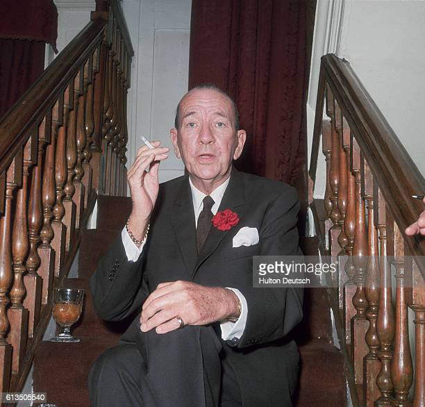 A portrait of the English actor dramatist and composer Noel Coward His plays include 'Hay Fever' 'Private Lives' and 'Blithe Spirit' and his most...