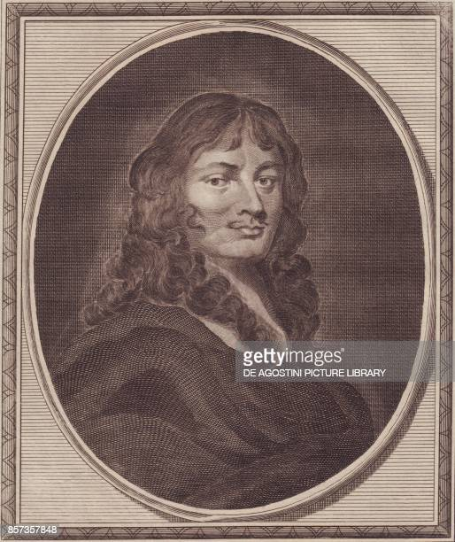 Portrait of the English politician Sir William Temple copper engraving by John Goldar from a painting by P Lely 19x16 cm from History of England by...