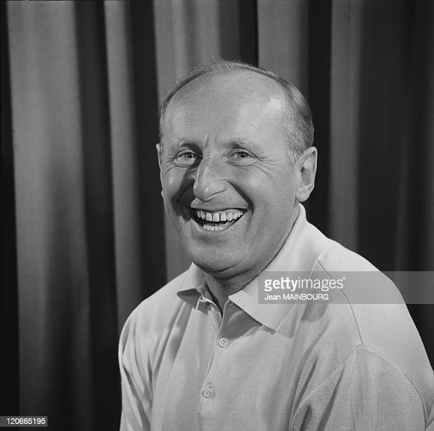 Portrait of the french actor Bourvil in 1950s