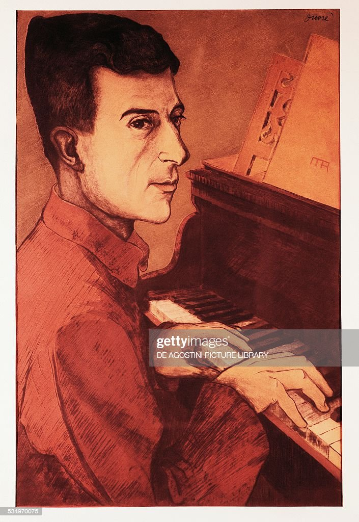 Portrait of the French composer <a gi-track='captionPersonalityLinkClicked' href=/galleries/search?phrase=Maurice+Ravel&family=editorial&specificpeople=488980 ng-click='$event.stopPropagation()'>Maurice Ravel</a> (Ciboure, 1875-Paris, 1937). 20th century. Milan, Museo Teatrale