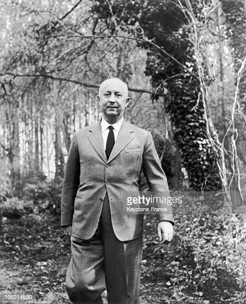 Portrait Of The French Fashion Designer Christian Dior Around 19551957