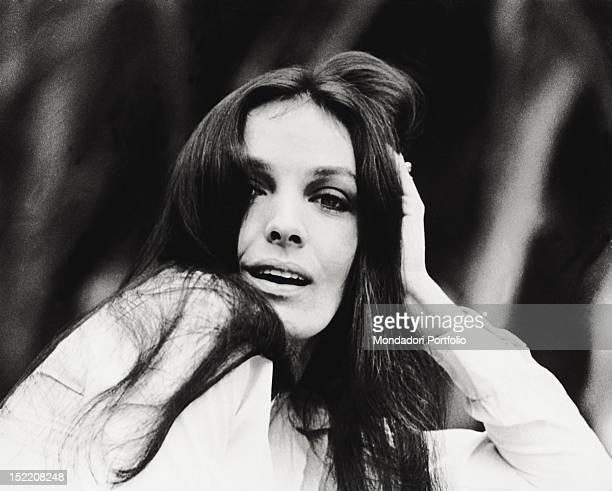 Portrait of the French singer and actress Marie Laforet San Remo September 1968