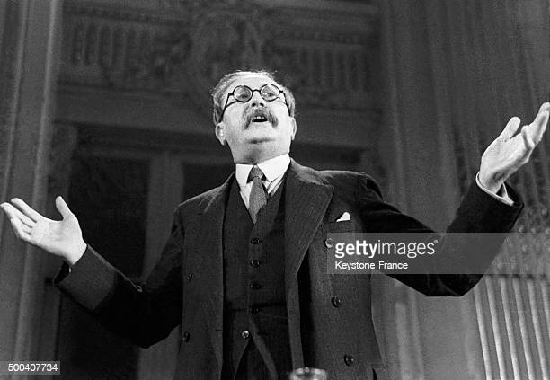 A portrait of the Front Populaire's leader Leon Blum in May 1936 in France