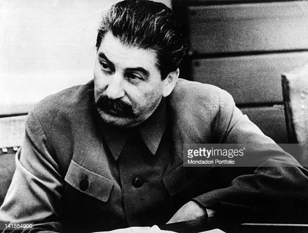 Portrait of the general Secretary of the Communist Party of USSR Stalin 1940s