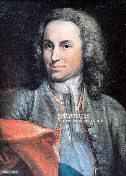 Portrait of the German composer and organist Johann Sebastian Bach painting Berlin Archiv Für Kunst Und Geschichte