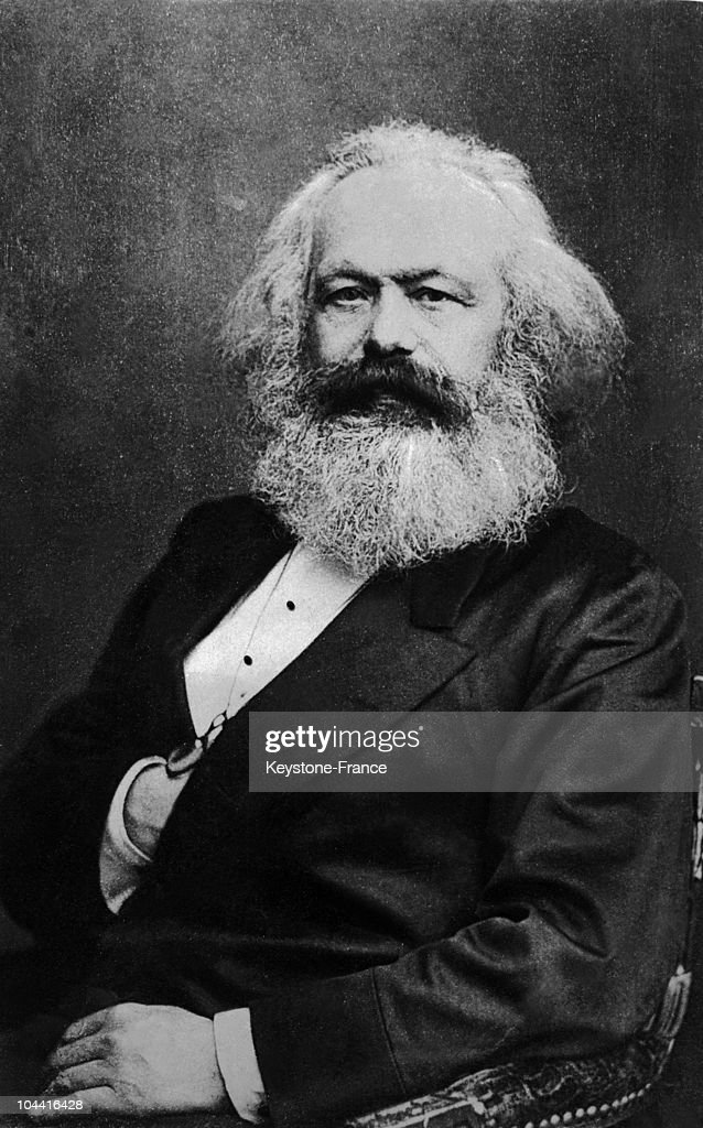 Portrait of the German philosopher and revolutionary Karl MARX around 1848 at the time when his famous COMMUNIST MANIFESTO was published