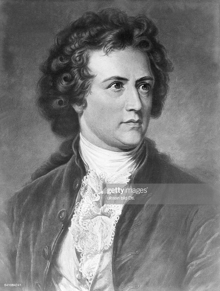 Portrait of the German writer and poet <a gi-track='captionPersonalityLinkClicked' href=/galleries/search?phrase=Johann+Wolfgang+von+Goethe&family=editorial&specificpeople=98976 ng-click='$event.stopPropagation()'>Johann Wolfgang von Goethe</a> during his younger years