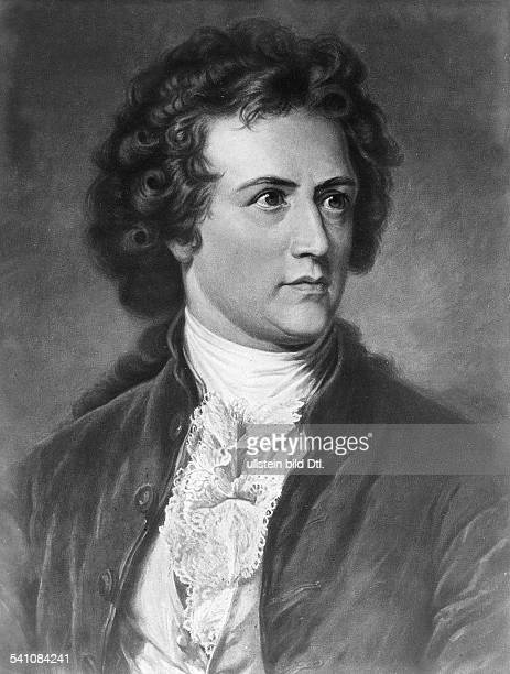 Portrait of the German writer and poet Johann Wolfgang von Goethe during his younger years