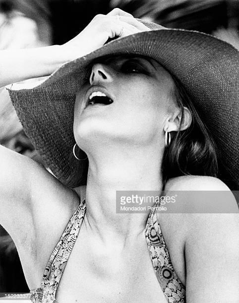 Portrait of the Germanborn Italian actress Barbara Bouchet Cannes 1970s