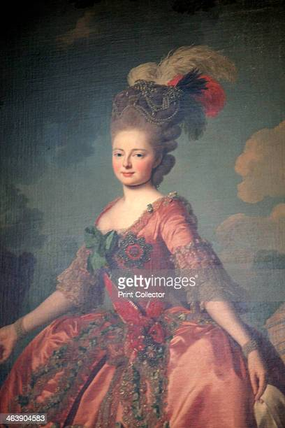'Portrait of the Grand Duchess Maria Feodorovna' 1777 Detail Sophie Dorothea of Württemberg was the second wife of Tsar Paul I of Russia who she...