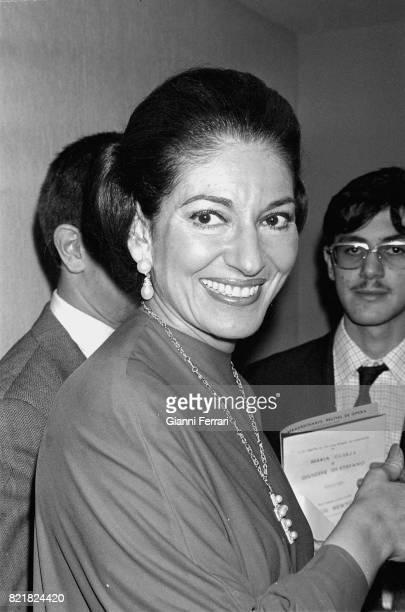 Portrait of the Greek soprano Maria Callas Madrid Spain